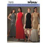 Simplicity Schnittmuster 7970 - Damen Abendkleid 001