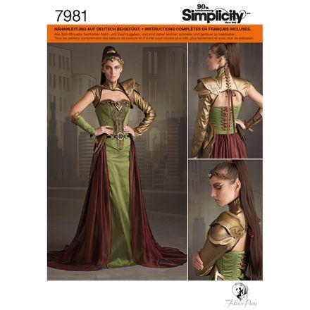 Simplicity Schnittmuster 7981 - Damen Kostüm - Ranger, Fantasy