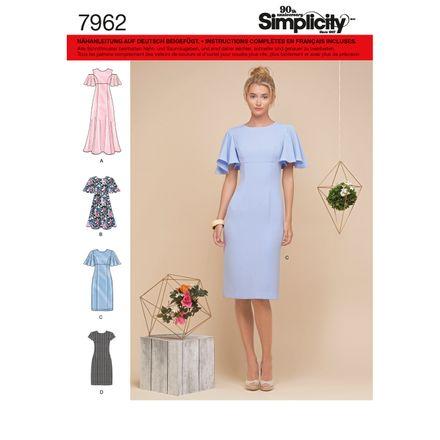 Simplicity Schnittmuster 7962 - Damen Volant-Kleid