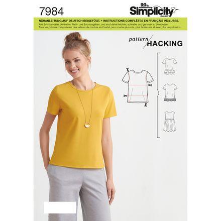 Simplicity Schnittmuster 7984 - Damen Jersey-Shirt
