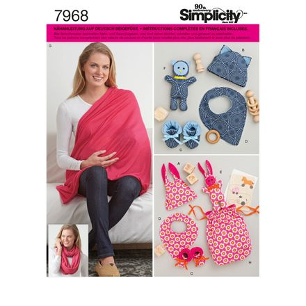 Simplicity 7968 Schnittmuster Baby-Accessoires