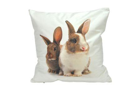 Kissenhülle - Fotoprint - Hasenpaar - 40x40cm