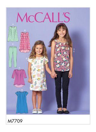 McCall´s Schnittmuster - 7709 - Kinder - Kleid, Shirt und Leggings