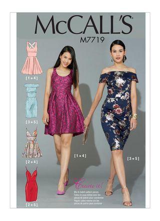 McCall´s Schnittmuster - 7719 - Damen - Kleid