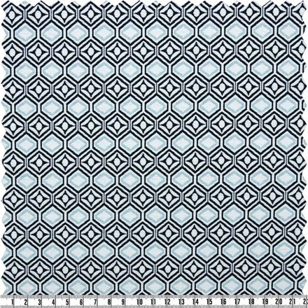 Stretch-Jacquard - blau