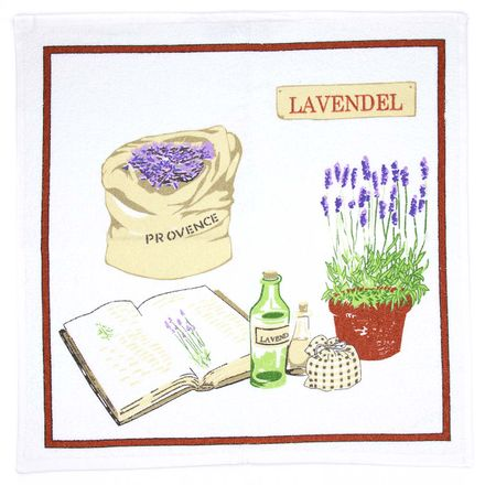 Küchen-Frottiertuch - 50x50cm - Lavendel