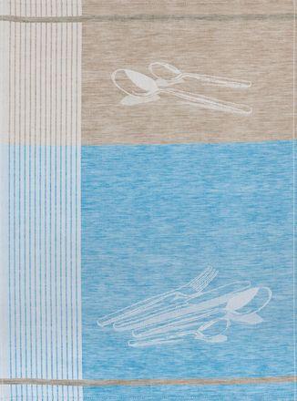 Halbleinen-Geschirrtuch - Besteck - 50x70cm - verschiedene Farben – Bild 3