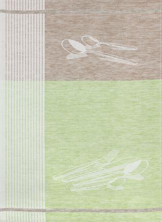 Halbleinen-Geschirrtuch - Besteck - 50x70cm - verschiedene Farben – Bild 2