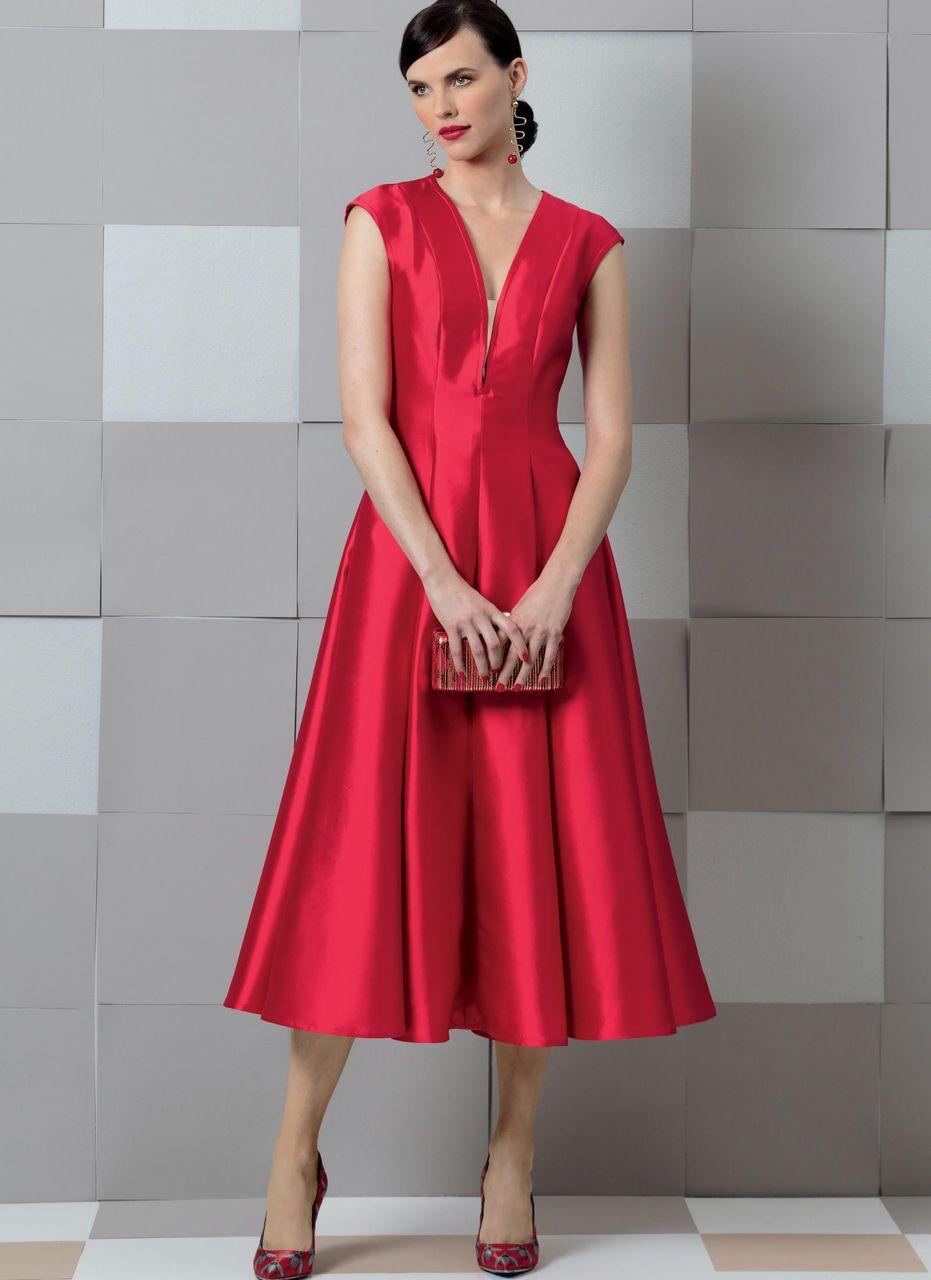 Vogue Schnittmuster V9292 SCHNITTE Schnittmuster Vogue Kleider – alfatex