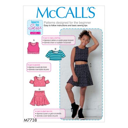 McCall´s Schnittmuster - 7738 - Kinder - Top & Rock