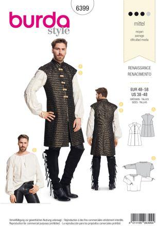 Burda Schnittmuster - 6399 - Herrenkostüm - Renaissance