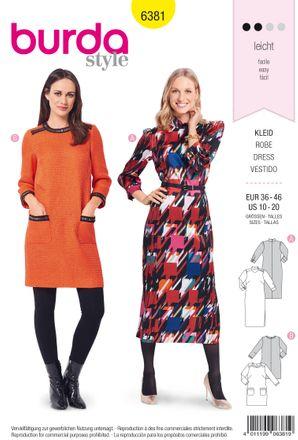 Schnitt - 6381 - Kleid