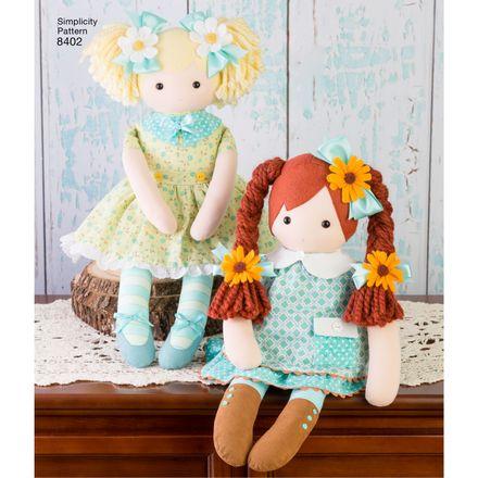 Simplicity Schnittmuster 7038 - Kinder Stoff-Puppen – Bild 2