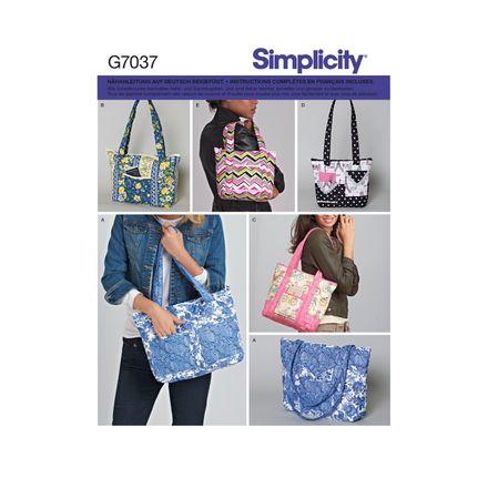 Simplicity Schnittmuster 7037 - Damen Accessoires, Tasche