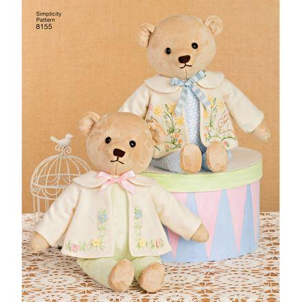 Simplicity Schnittmuster 7036 - Kinder - Teddybären – Bild 4