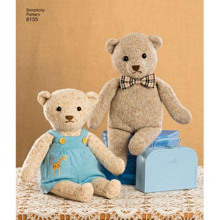 Simplicity Schnittmuster 7036 - Kinder - Teddybären – Bild 3