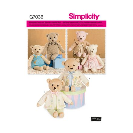 Simplicity 7036 Schnittmuster - Kinder - Teddy