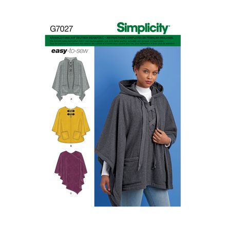 Simplicity 7027 Schnittmuster - Poncho
