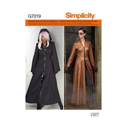 Simplicity Schnittmuster 7019 - Damen Kostüm, Mantel