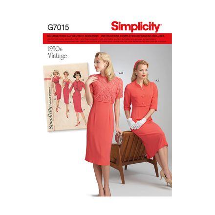 Simplicity 7015 Schnittmuster - Kombination