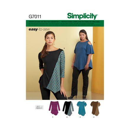 Simplicity 7011 Schnittmuster - Shirt