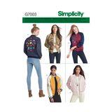 Simplicity Schnittmuster 7003 - Damen Blouson 001