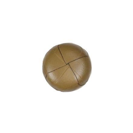 Lederknopf - beige