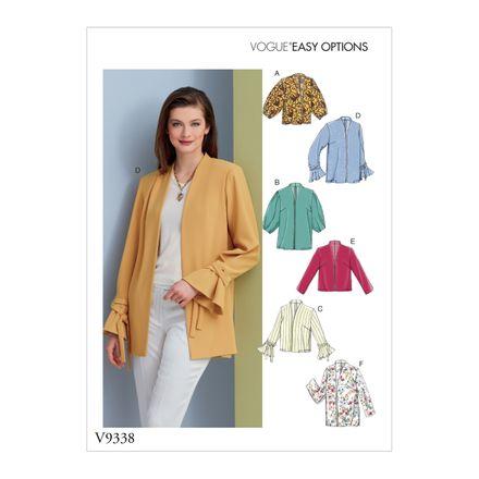 Vogue Schnittmuster V9338 - Damen - Jacke