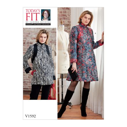 Vogue Schnittmuster V1592 - Mantel, Kleid, Top