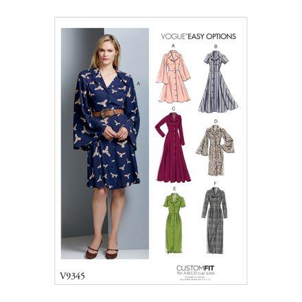 Vogue Schnittmuster V9345 - Damen - Kleid