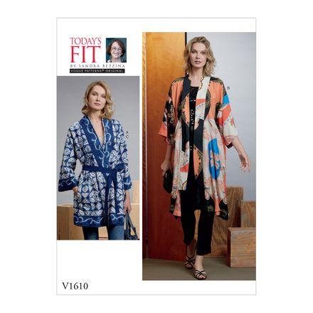 Vogue Schnittmuster V1610 - Damen Kimono