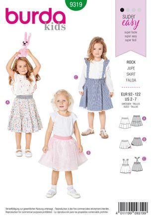 Burda Schnittmuster - 9319 - Kinder Röcke