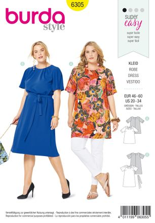 Burda Schnittmuster - 6305 - Damen Kleid