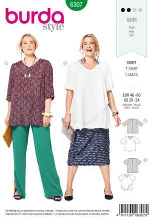 Burda Schnittmuster - 6307 - Damen Shirt