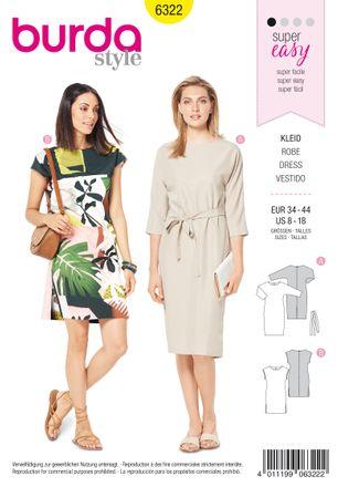 Burda Schnittmuster - 6322 - Damen Kleid