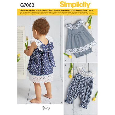Simplicity Schnittmuster 7063 - Kinder, Baby Kleid