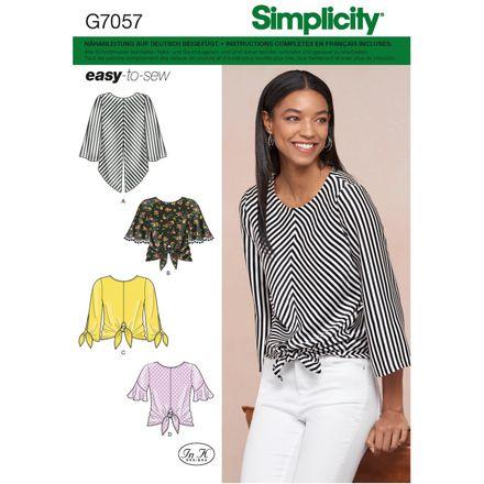Simplicity Schnittmuster 7057 - Damen Shirt zum Knoten