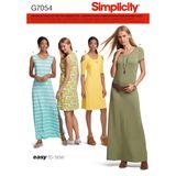 Simplicity Schnittmuster 7054 - Damen Jersey-Kleid 001