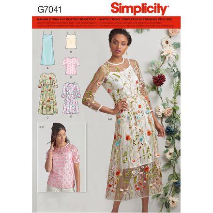 Simplicity Schnittmuster 7041 - Damen Kleid, Shirt