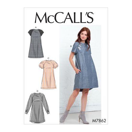 McCall´s Schnittmuster - 7862 - Damen - Kleid