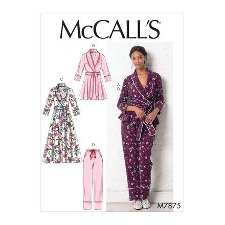 McCall´s Schnittmuster - 7875 - Damen - Homewear-Kombination