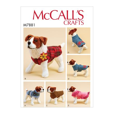 McCall´s Schnittmuster - 7881 - Accessoires - Hundemantel