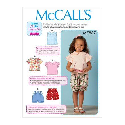 McCall´s Schnittmuster - 7887 - Kinder - Shirt, Shorts