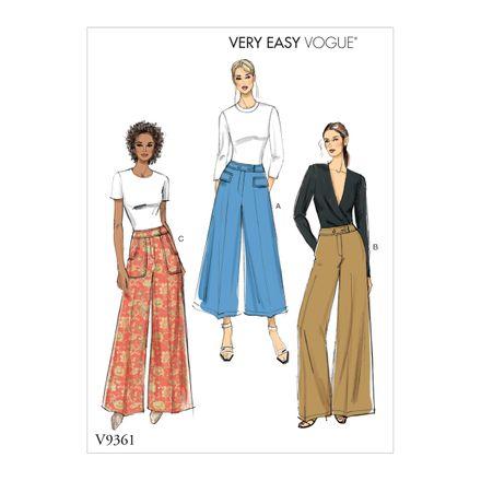 Vogue Schnittmuster V9361 - Damen - Hose
