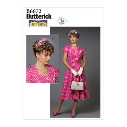 Butterick Schnittmuster - 6672 - Damen - Vintage-Kleid