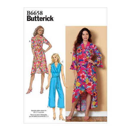 Butterick Schnittmuster - 6658 - Damen - Kleid, Jumpsuit