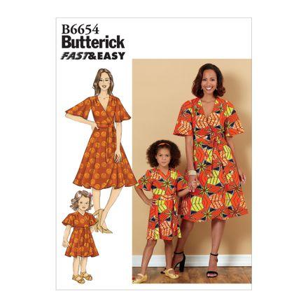 Butterick Schnittmuster - 6654 - Damen & Kinder - Kleid