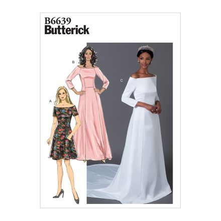Butterick Schnittmuster - 6639 - Damen Kleid, Hochzeitskleid