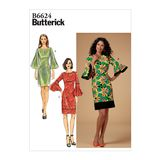 Butterick Schnittmuster - 6624 - Damen - Kleid, Volant-Ärmel 001