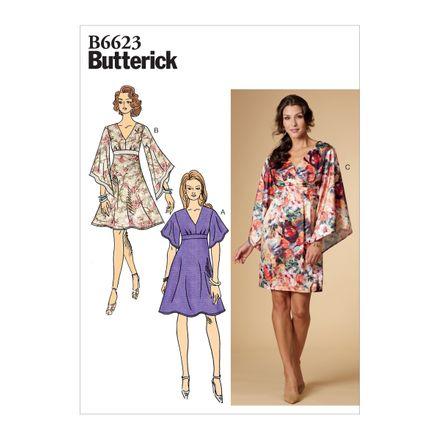 Butterick Schnittmuster - 6623 - Damen - Empirekleid mit weiten Ärmeln